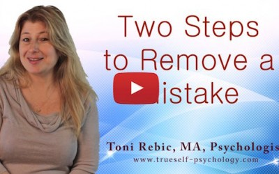 Two Steps to Remove a Mistake